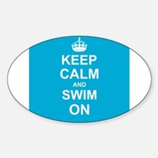 Keep Calm and Swim on Decal