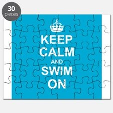 Keep Calm and Swim on Puzzle