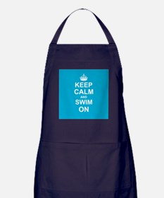 Keep Calm and Swim on Apron (dark)