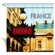 Paris Metro Travel France Shower Curtain