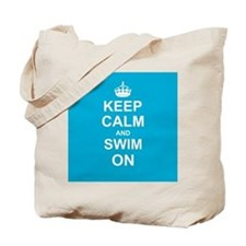 Keep Calm and Swim on Tote Bag