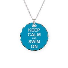 Keep Calm and Swim on Necklace