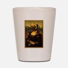 Mona Lisa Pug Shot Glass
