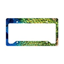 Peacock Blues License Plate Holder