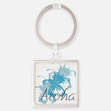 Aloha Floral Square Keychain