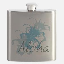 Aloha Floral Flask