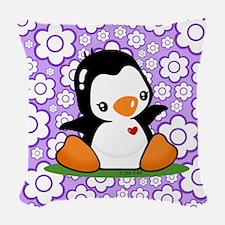Cute Penguin Woven Throw Pillow