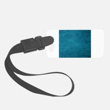 Teal brick texture Luggage Tag