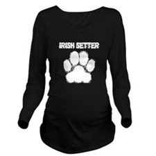Irish Setter Distressed Paw Print Long Sleeve Mate