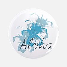 """Aloha Floral 3.5&Quot; 3.5"""" Button"""