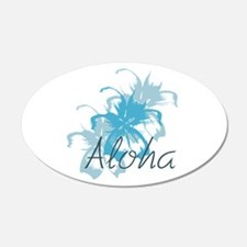 Aloha Floral 20X12 Oval Wall Decal