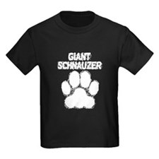 Giant Schnauzer Distressed Paw Print T-Shirt