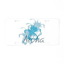 Aloha Floral Aluminum License Plate