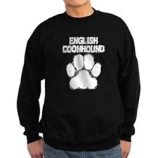 English Coonhound Distressed Paw Print Sweatshirt