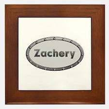 Zachery Metal Oval Framed Tile