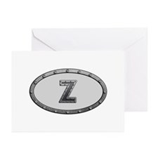 Z Metal Oval Greeting Card 10 Pack