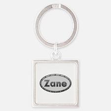Zane Metal Oval Square Keychain