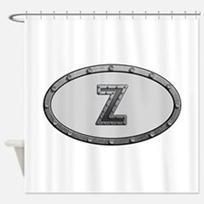 Z Metal Oval Shower Curtain