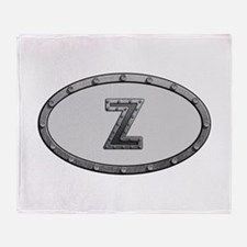 Z Metal Oval Throw Blanket