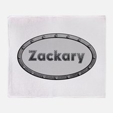 Zackary Metal Oval Throw Blanket