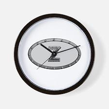 Z Metal Oval Wall Clock