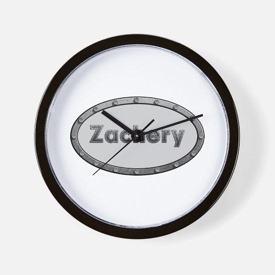Zachery Metal Oval Wall Clock