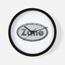 Zane Metal Oval Wall Clock