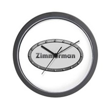 Zimmerman Metal Oval Wall Clock