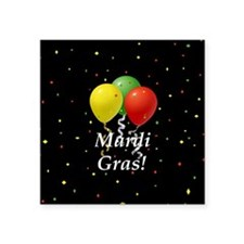 Mardi Gras balloons_black 2 button Sticker