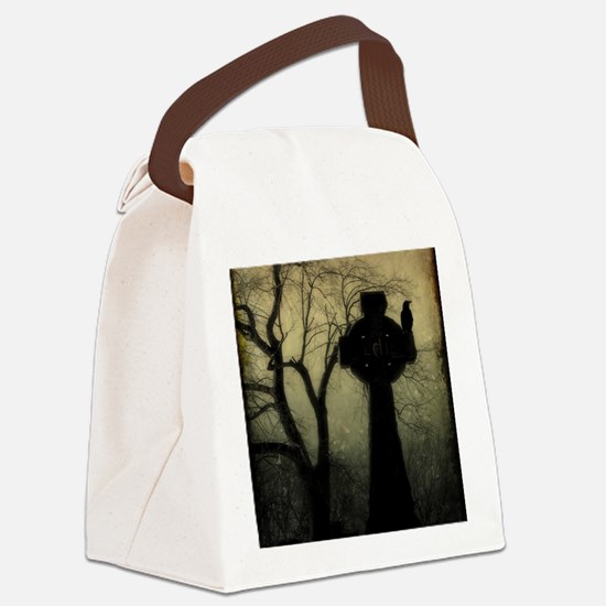 Celtic Crow Canvas Lunch Bag