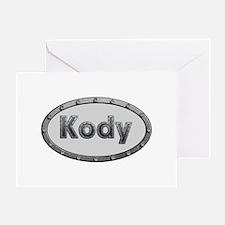 Kody Metal Oval Greeting Card