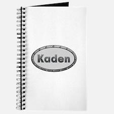 Kaden Metal Oval Journal