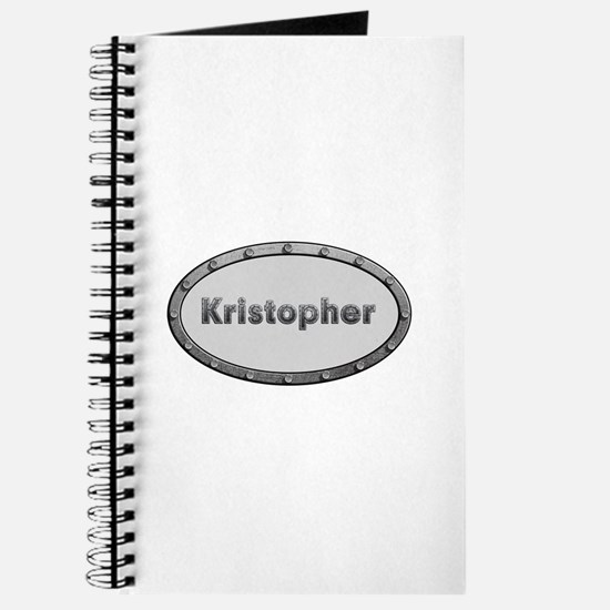 Kristopher Metal Oval Journal