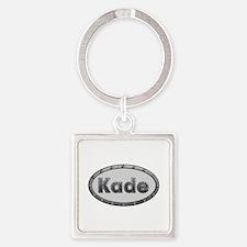 Kade Metal Oval Square Keychain
