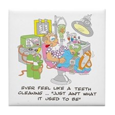 TEETH CLEANING Tile Coaster