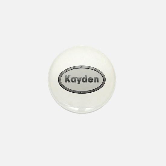 Kayden Metal Oval Mini Button