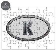 K Metal Oval Puzzle