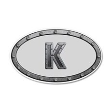 K Metal Oval 35x21 Oval Wall Decal
