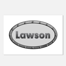 Lawson Metal Oval Postcards 8 Pack
