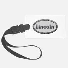 Lincoln Metal Oval Luggage Tag