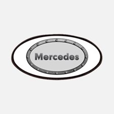 Mercedes Metal Oval Patch