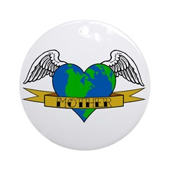 Mothers Day Tattoo Ornament (Round)