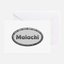 Malachi Metal Oval Greeting Card