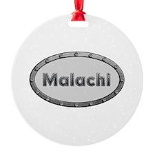 Malachi Metal Oval Ornament