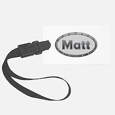Matt Metal Oval Luggage Tag