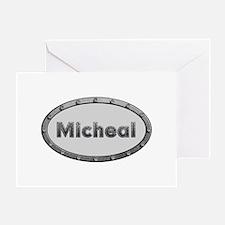Micheal Metal Oval Greeting Card