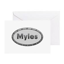 Myles Metal Oval Greeting Card