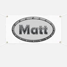 Matt Metal Oval Banner