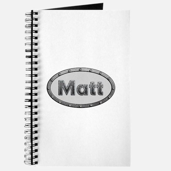 Matt Metal Oval Journal