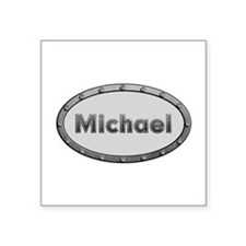 Michael Metal Oval Square Sticker
